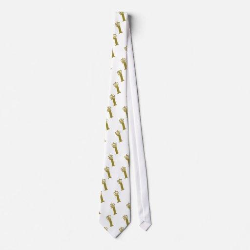Número 1 - campeón corbata personalizada