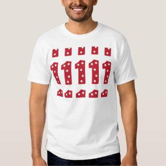 Número 1 - Estrellas del blanco en rojo oscuro Camisas