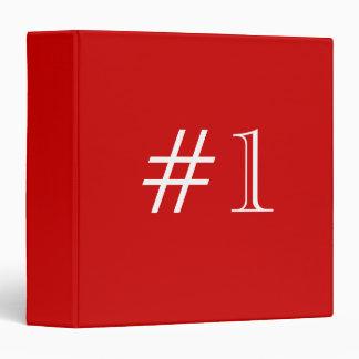 Número 1. rojo y blanco. Personalizado