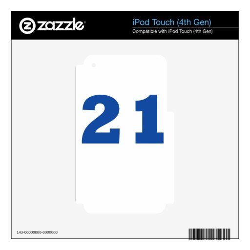 Número 22 iPod touch 4G skin