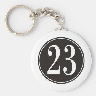 Número 23 - Círculo negro (frente) Llavero