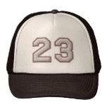 Número 23 con mirada fresca de las puntadas del bé gorra