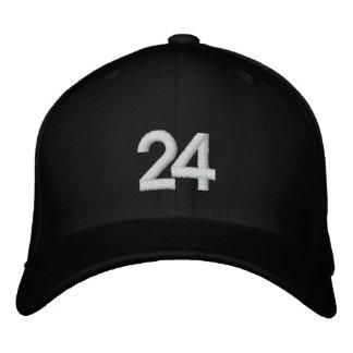 Número 24 gorras bordadas