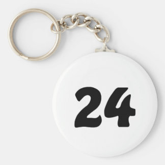 Número 24 llavero redondo tipo pin