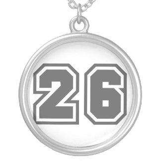 Número 26 colgante redondo