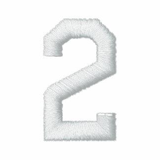 Número 2 camiseta polo bordada
