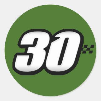 Número 30 - Pegatina