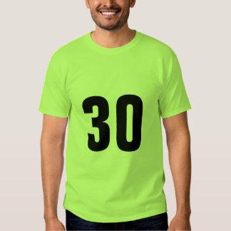 Número 30 remeras