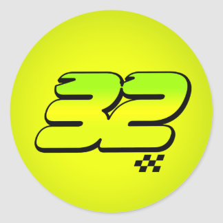 Número 32 - Pegatina