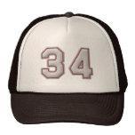 Número 34 con mirada fresca de las puntadas del bé gorra