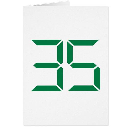 Número - 35 tarjetón