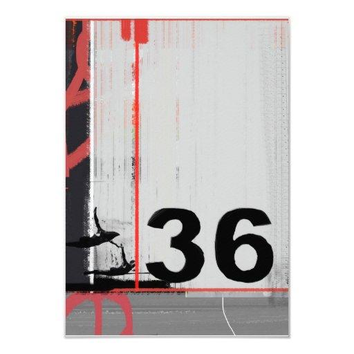Número 36 invitación 8,9 x 12,7 cm