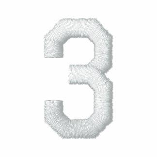 Número 3 camiseta polo bordada