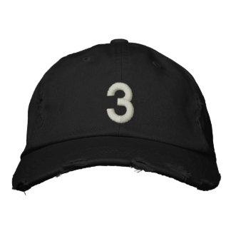 Número 3 gorras bordadas