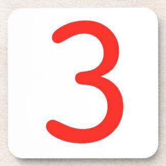 Número 3 posavasos