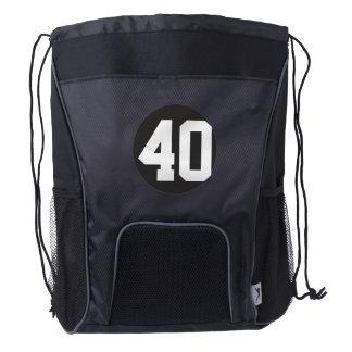 Número 40 o 40.os cumpleaños mochila de cordón