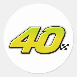 Número 40 - Pegatina