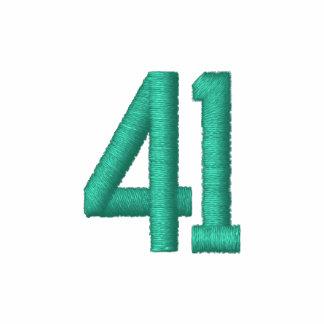 Número 41 camiseta polo bordada