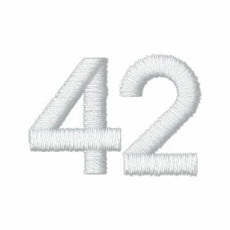 Número 42 camiseta polo bordada
