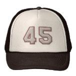 Número 45 con mirada fresca de las puntadas del bé gorra