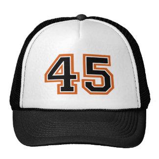 Número 45 gorro de camionero