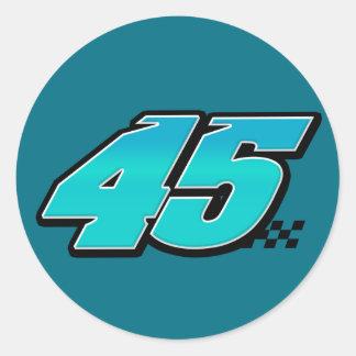 Número 45 - Pegatina