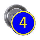 número 4 en un círculo pin