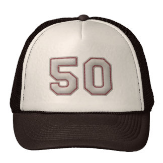 Número 50 con mirada fresca de las puntadas del bé gorros