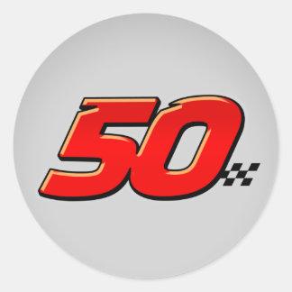 Número 50 - Pegatina