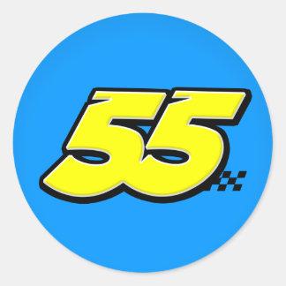 Número 55 - Pegatina