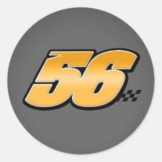 Número 56 - Pegatina