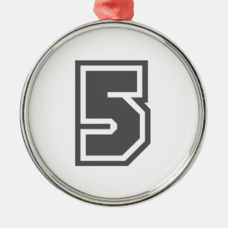 Número 5 ornamento para arbol de navidad