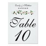 """Número 5X7 de la tabla del boda del día de fiesta Invitación 5"""" X 7"""""""