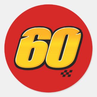 Número 60 - Pegatina
