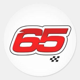 Número 65 - Pegatina