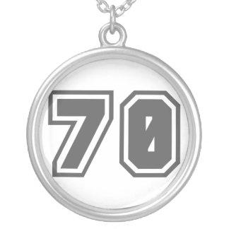 Número 70 colgante redondo