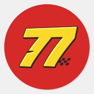 Número 77 - Pegatina