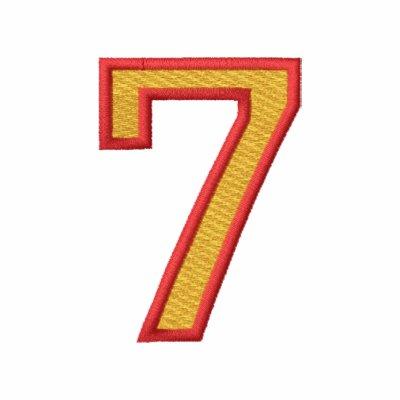 Número 7 polo bordado