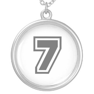 Número 7 colgante redondo
