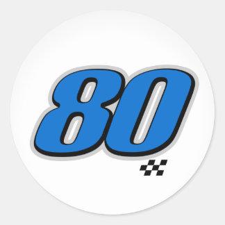 Número 80 - Pegatina