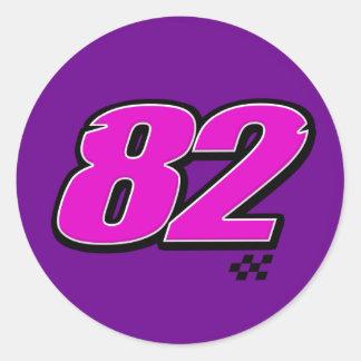 Número 82 - Pegatina
