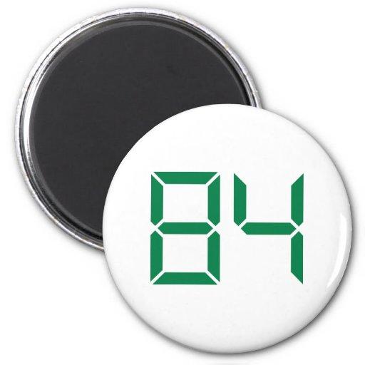 Número - 84 imán redondo 5 cm
