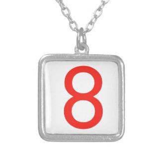 Número 8 colgante cuadrado