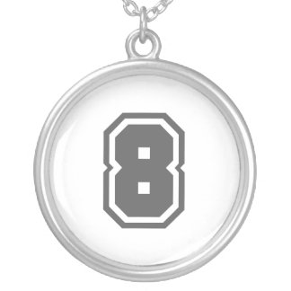 Número 8 colgante redondo