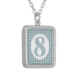 Número 8/regalos decorativos del 8vo aniversario colgante cuadrado