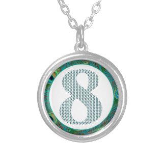 Número 8/regalos decorativos del 8vo aniversario colgante redondo