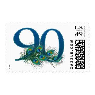 número 90 - franqueo numerado elegante del cumplea