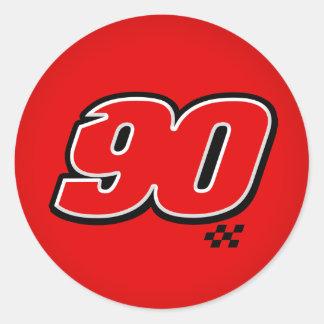 Número 90 - Pegatina