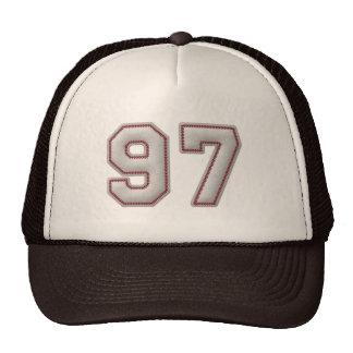 Número 97 con mirada fresca de las puntadas del bé gorras
