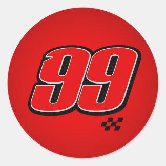 Número 99 - Pegatina